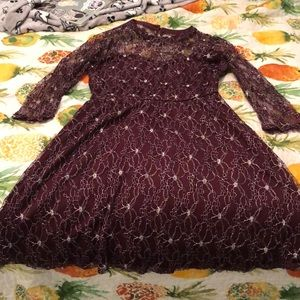 Skater lace dress